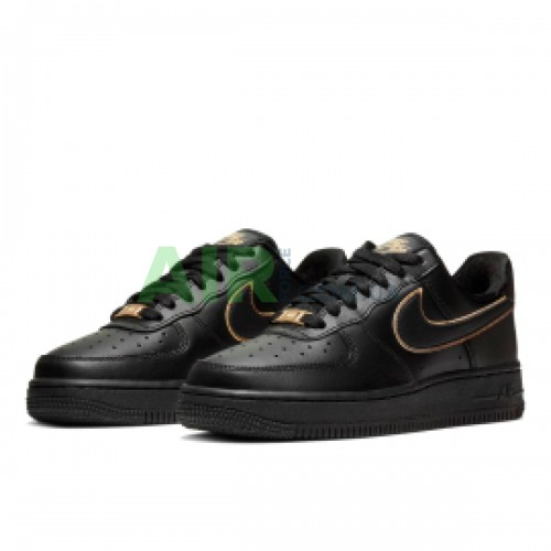 Air Force 1 Low Essential Black Gold Swoosh AO2132-005