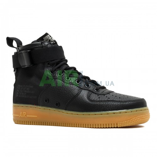 SF Air Force 1 Mid Black Gum 917753-003