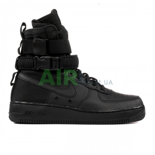 SF Air Force 1 High Triple Black 857872-002