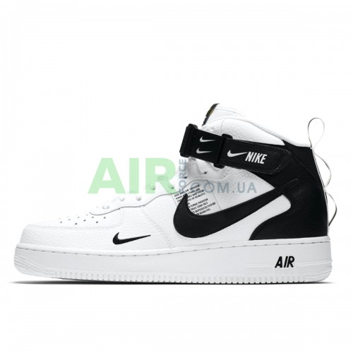 804609-103 Air Force 1 07 Mid LV8 Utility White Black