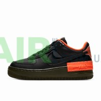 CQ3317-001 Air Force 1 Shadow Black Hyper Crimson Cargo Khaki