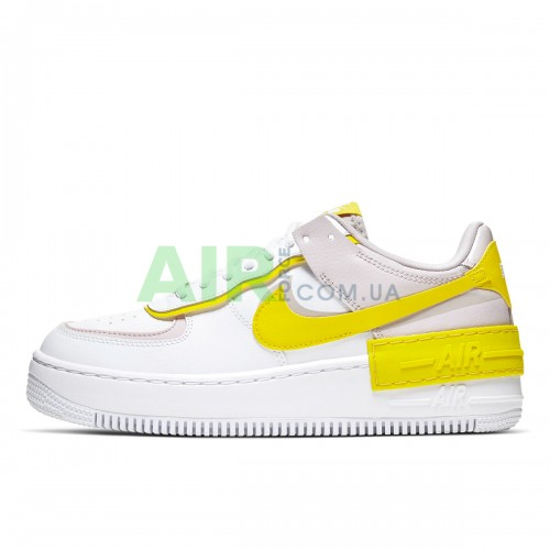 Air Force 1 Shadow White Barely Rose Speed Yellow CJ1641-102