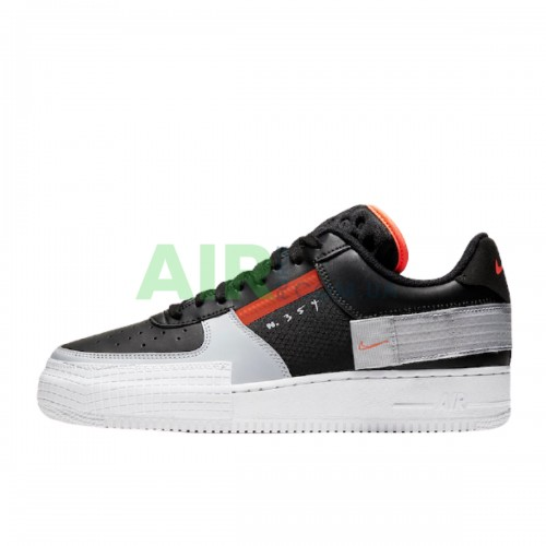CQ2344-001 Air Force 1 Type Black Hyper Crimson