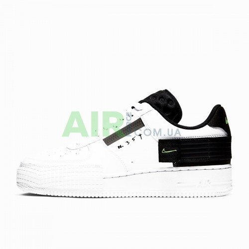 Air Force 1 Type White Black Volt AT7859-101