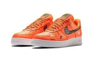 Nike Air Force оранжевые